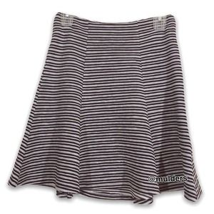 Anthropologie Maeve Striped Textured A-line Skirt